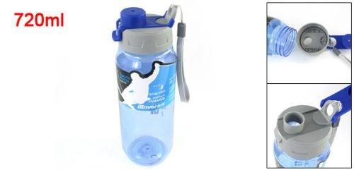 Amazon.com : eDealMax Botella desmontable Mano del agua de la Correa de la Taza plástica 720ml Gris Azul Claro : Sports & Outdoors