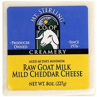 (Mt Sterling, Cheddar Mild Raw Goat Milk, 8 Ounce)