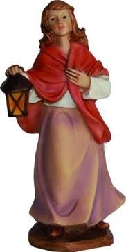 Miniatur Modell Figur Magd mit Laterne, geeignet für 11cm Figuren Zisaline