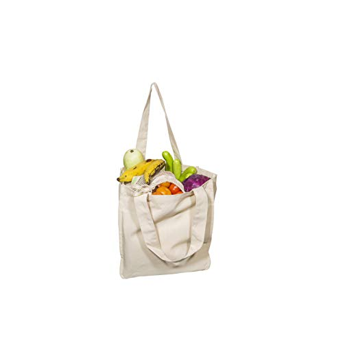 Best Canvas Grocery Shopping Bags - Canvas Grocery Shopping Bags with Handles - Cloth Grocery Tote Bags - Reusable Shopping Grocery Bags - Organic ...