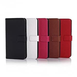 Litchi Pattern Wallet Leather Stand Case For Samsung Galaxy S5 I9600 --- Color:White