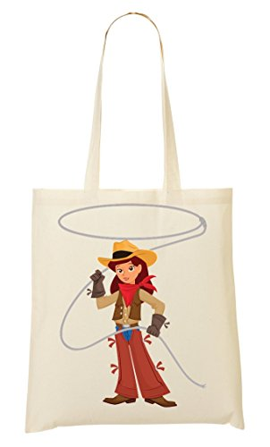 CP Swinging Tout Sac Sac Fourre À Provisions Graphic Cowgirl Lasso AF5qAr