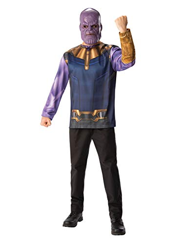Rubie's Men's Marvel Avengers Infinity War Thanos Costume Top and Mask, Standard]()