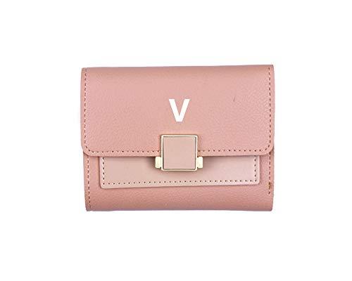 In Porta Donna Di Carte Credito Pu Purse Pelle Tessere Clip Portafoglio Pink08 Contanti Elegante Wallets Portafogli Slim Tascabile Bts Con Protezione Per aXwXqd