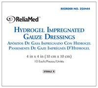 4 X 4 HYDROGEL IMPREGNATED GAUZE, STERILE by Reliamed