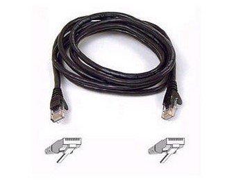 BELKIN FASTCAT - PATCH CABLE - RJ-45 (M) - RJ-45 (M) - 10 FT - ( CAT 5E ) - BLAC - A3L850-10-BLK-S ()