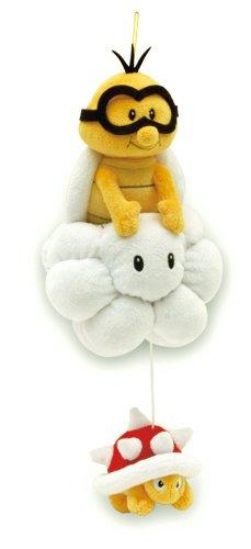 Sanei Super Mario Plush Series Plush Doll 8'' Lakitu/Jyugemu Plush Japanese Import by Sanei