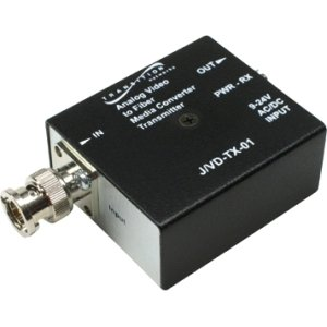 Transition Networks J/VD-TX-01-NA Stand-Alone Analog CCTV Video Transmitter - Video extender - up to 0.6 miles - 850 nm