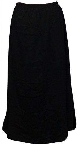 Sanctuarie Designs Women's // 6x/Black Poly Cotton Plus Size Supersize Skirt 6x / 68