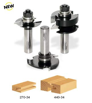 - Timberline TRS-210 Glass Panel 1/2-Inch Shank Door Making Router Bit Set, 3-Piece