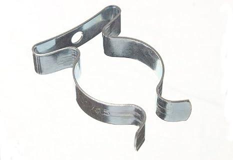 5 x METAL TERRY CLIPS 19mm Garage Shed Garden Tool Storage Grip Holder Clasps UK