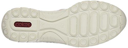 Precio barato para la venta Las Mujeres Rieker L3223 Bajo-top De Las Señoras De Zapatillas Grises (blanco-gris / Mármol / Blanco Apagado / Marrón-negro / 40) Venta por menos de $ 60 KhfoQ1A