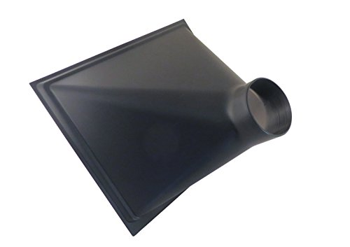 """Gigantic 13"""" x 16"""" x 10"""" Deep ABS Plastic Dust Hood with 4"""" OD Opening for Dust Collector Systems 73464"""