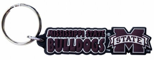 NCAA Mississippi State Bulldogs Festive PVC Keychain