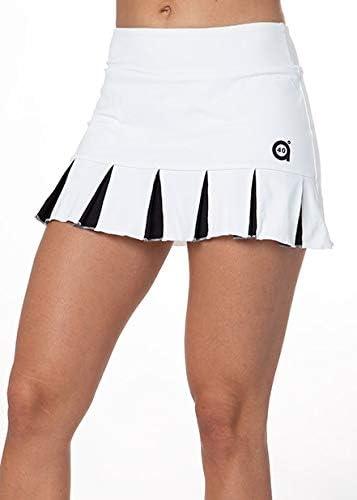 a40grados Sport & Style, Falda Feliz Blanca, Mujer, Tenis y Padel (Paddle)
