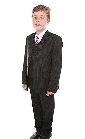 taille 40 f0ce6 1605b Garçons 5 Pièces Costume Fête De Noces Pantalons Veste Chemise Gilet Cravate