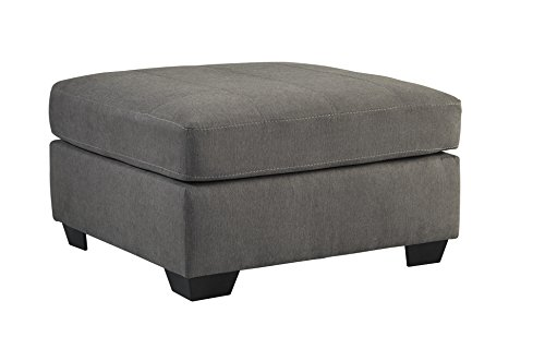 Gray Charcoal Tables (Benchcraft - Maier Contemporary Oversized Accent Ottoman - Footrest or Table Alternative - Charcoal Gray)