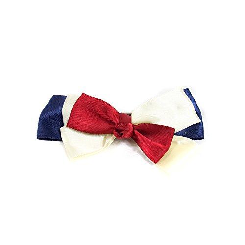 Cinlla ® Women Girl Beauty Sailor Vintage Crystal bow knot Hair Clip Head Wear Holder