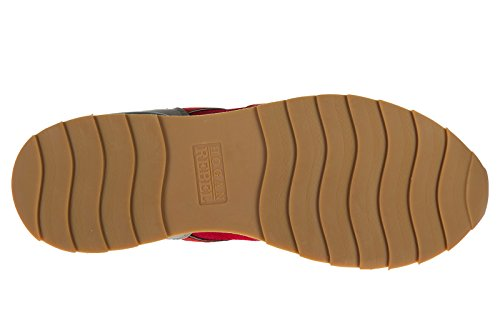 Hogan Opprører Menns Sko Skinn Trenere Joggesko R261 Rød