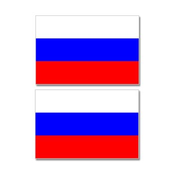 Russia Russian Country Flag Sheet Of 2 Window Bumper Stickers