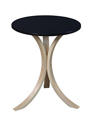 (Niche Modern Mia Side Table, 18-Inch,Natural/Black)
