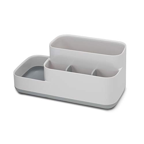 Joseph Joseph 70513 EasyStore Bathroom Storage Organizer Caddy Countertop, Gray, 11.9 x 11.6 x 24.9 cm