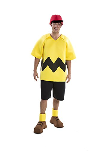 Toy Island Boys Adult Charlie Brown Costume, Medium