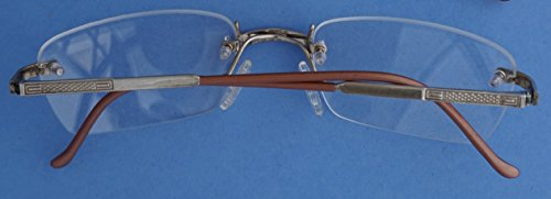 Glasses Cartier (Nisstiiv 925 Sterling Silver stripes Rimless Eye Glasses Rare and Unusual spectacle frame eyeglasses)