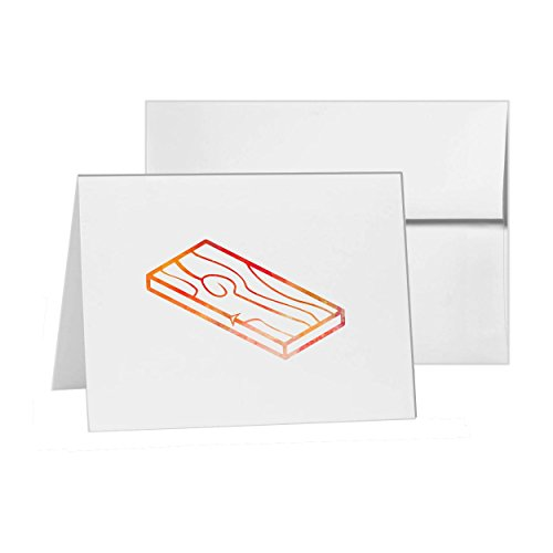 Wood Flooring Hardwood Lumber, Blank Card Invitation Pack, 15 cards at 4x6, Blank with White Envelopes Style - Flooring Hardwood Lumber