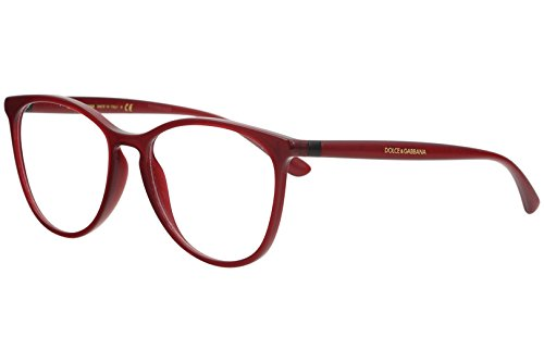 Dolce & Gabbana Eyeglasses D&G DG5034 DG/5034 1551 Bordeaux Optical Frame 53mm (Transparent Bordeaux, 53)