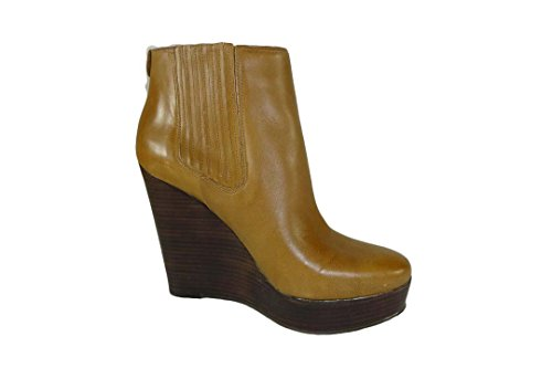 Boots Kors Emory Wedge Womens Walnut Ankle Michael Leather Boot Michael HqwXZZ