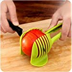 """Laytek Tomato Slicer, Multi-functional Handheld Tomato Round Slicer, Fruit Vegetable Cutter, Lemon Shredders Slicer, With the Special Hook 9 Material : ABS Mold Size :18.5 x 8 CM /7.3 """"X 3.1"""" Package Includes : 1 x HandHeld FruitS Round Slicer With this tomato slicer,you'll create perfect tomato slices everytime,This kind of fruit and vegetable slice assistant design novel, beautiful, bright color, easy to operate, safe and reliable. Add the tomato slicer along each gap from the top down the you could cut it into pieces"""