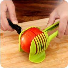 Laytek Tomato Slicer, Multi-functional Handheld Tomato Round Slicer, Fruit Vegetable Cutter, Lemon Shredders Slicer, With the Special Hook by Laytek (Image #7)