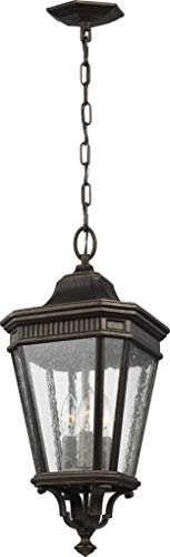 Feiss OL5431GBZ Cotswold Lane Outdoor Lighting Pendant Lantern, Bronze, 3-Light (10