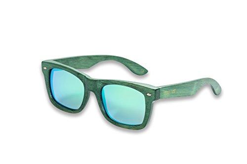 mawaii modèle raorao KOA Polarized lenses fgv (Feel Good Vision) avec Box et sacs microfibre lunettes de soleil bambou, vert, L
