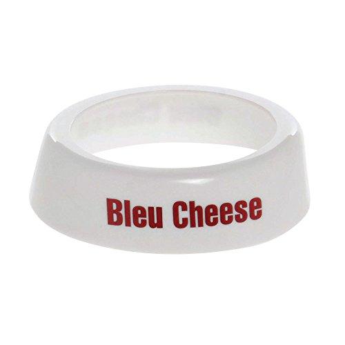 "Tablecraft CM1 Dispenser ID Collar ""Bleu Cheese"" maroon print (fits model number"