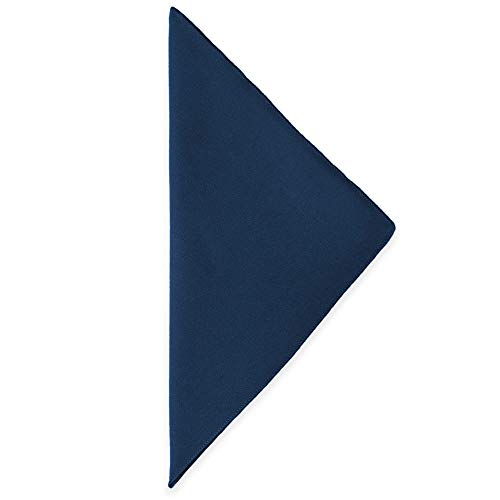 Ultimate Textile -5 Dozen- Cotton-Feel 20 x 20-Inch Cloth Dinner Napkins, Navy Blue by Ultimate Textile (Image #2)