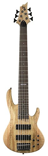 Bass Guitar Natural Satin (ESP LTD B-206SMNS Spalted Maple 6 String Bass Guitar, Natural Satin)