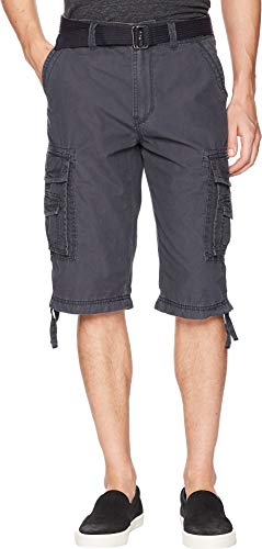 UNIONBAY Men's Cordova Belted Messenger Cargo Short - Reg and Big and Tall Sizes, Ruins, 36 by UNIONBAY