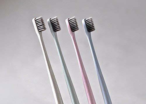 Amazon.com: Extra Soft Toothbrush for Adults & Children: Eco-friendly, Biodegradable Wheat Straw Toothbrush- 4 Pack: Beauty