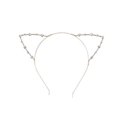 Cat Ear Headband Gold - Diamond -