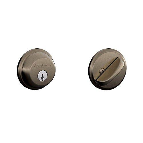SCHLAGE Lock CO B60N620 Single Cylinder Deadbolt, -