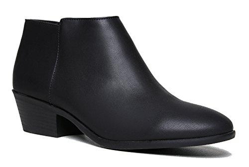 Low Heel Over the Knee Boot - Vegan Suede Thigh High - Trendy Easy Block Heel Shoe - Brandy by J Adams