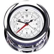 Weems & Plath Atlantis Collection Time and Tide Clock (Chrome)