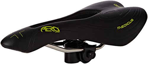 Aero Sport® Bicycle Bike Gel Medicus Gents MTB Racing Saddle INOX Rails by Aero Sport