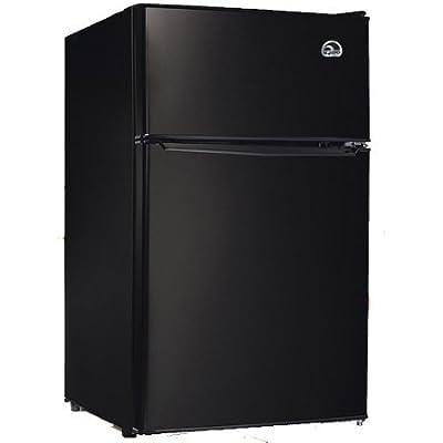 Igloo 3.2 cu. ft. 2-Door Refrigerator and Freezer Adjustable Thermostat | Slide-Out Shelves, Black