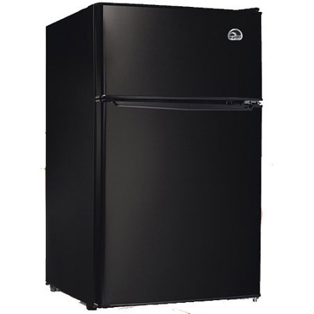 Large Product Image of Igloo 3.2 cu. ft. 2-Door Refrigerator and Freezer Adjustable Thermostat | Slide-Out Shelves, Black