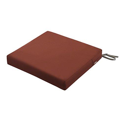 Classic Accessories Ravenna Rectangular Outdoor Patio Seat Cushion, Spice, 21
