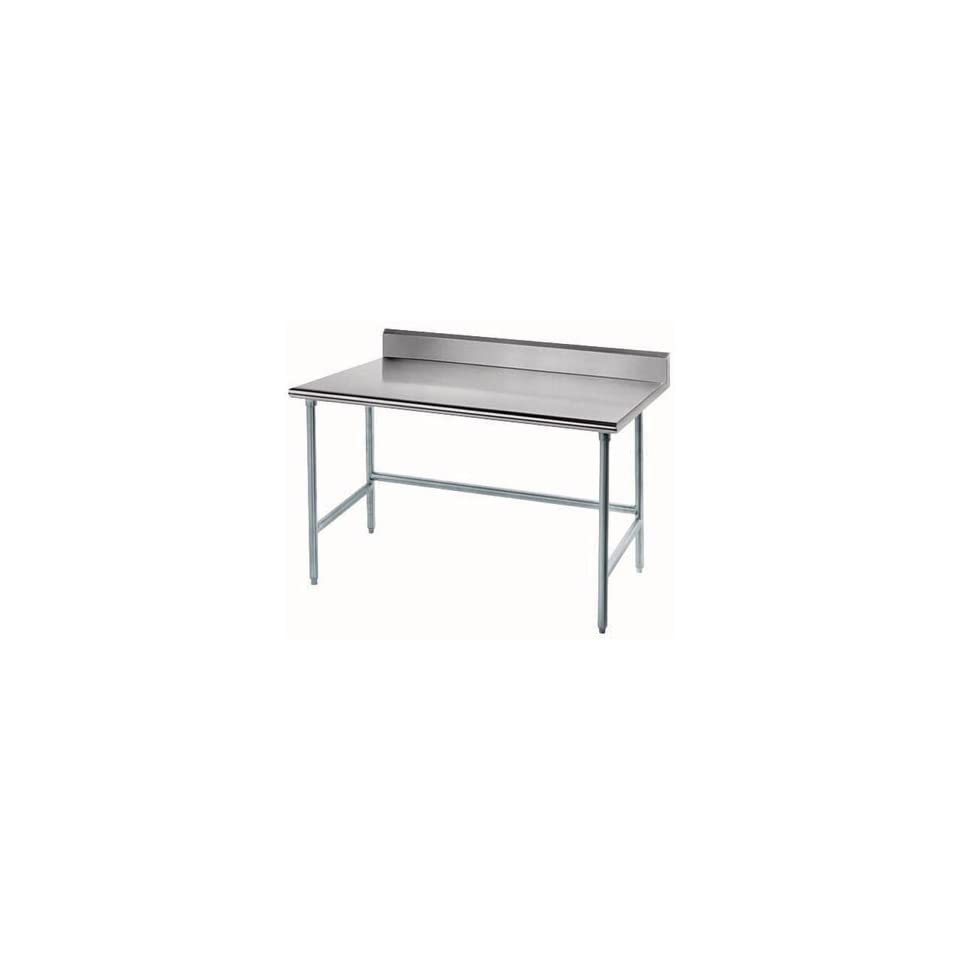 """16 Gauge Advance Tabco TKAG 368 36"""" x 96"""" Open Base Stainless Steel Commercial Work Table with 5"""" Ba"""