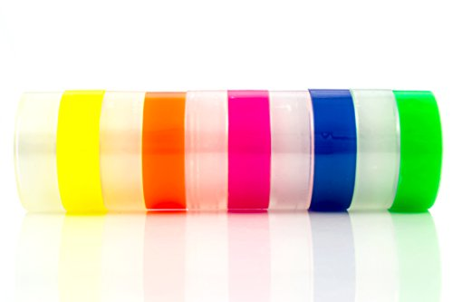 Transparent tape 10 Rolls | Bundle Pack 5 Clear + 5 colors Yellow Orange, Pink, Blue, Green | 3/4inch by 1,150 inches each | Safe & Great for arts and crafts Students , office, mail ,Construction